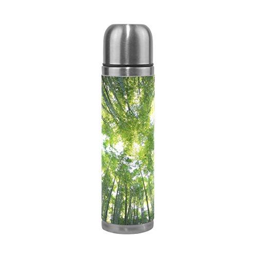Eslifey Green Bamboo Forest Auslaufsichere Wasserflasche isoliert Vakuum Edelstahl Thermos