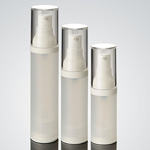 Airless-pumpe (dealglad® 320ml 30ml 50ml als Airless Flasche satiniert/Matt Vakuum Pumpe Flasche Lotion Flasche für Reisen, plastik, weiß, 30 ml)