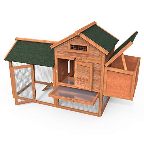 Vounot pollaio in legno, pollaio da giardino per galline ovaiole da esterno