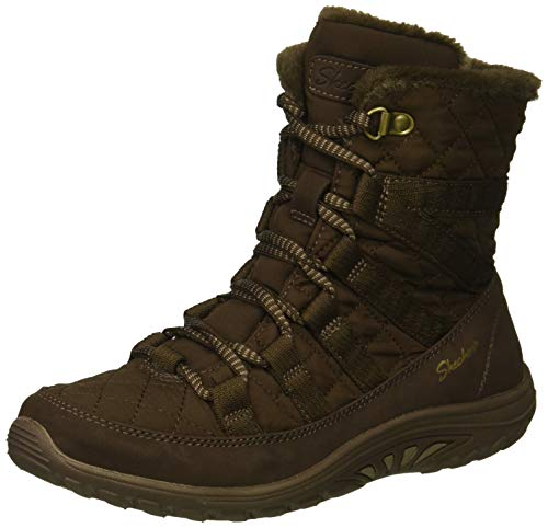 Skechers Women's Reggae Fest - Moro Rock - Short Quilted Lace Up Bootie Ankle Boot, - Fest Skechers Reggae