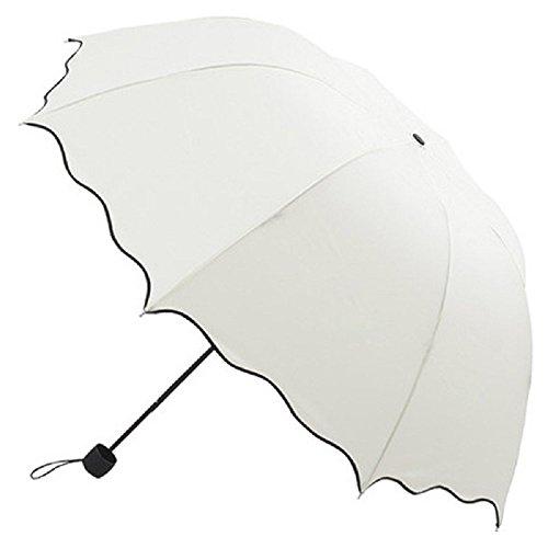 Wascoo Regenschirm-Regenschirm Kompakt klappbarer Windbreaker Regenschirm für Outdoor-Sportarten Klein und leicht - Robuster Regenschirm Travel