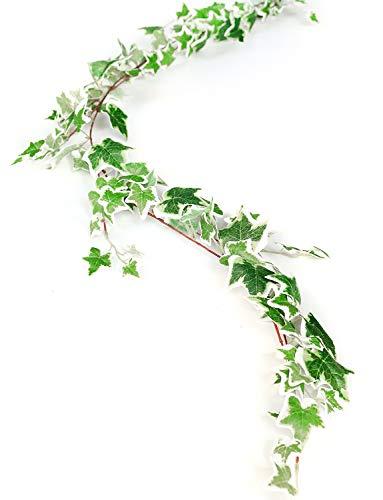 Künstlicher Efeu Girlande Pflanzen, 1 6.6 ft Fake Aufhängen Greenery hinterlässt Vines für Home Garten Hochzeit Party
