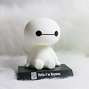 Autofier Home Decoration Big Hero 6 Baymax Robot Bobble Head Shaking Head Toy Model Car Decoration PVC Action Figure For Skoda Octavia
