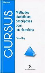 Méthodes statistiques descriptives pour les historiens
