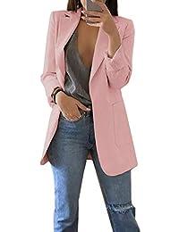 03b646949b28c Femme Élégant Blazer à Manches Longues Slim Fit OL Bureau Affaires Veste De  Costume Manteau Cardigan