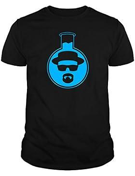 The Fan Tee Camiseta de Breaking Bad Heisenberg Jesse Walter White Laboratories Probeta Mujer