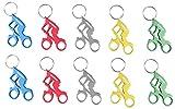 Munkees Portachiavi Biker con apribottiglie in alluminio di alta qualità, anello portachiavi, 3527, alluminio, 10er Pack