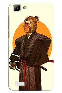 Omnam Monkey Man In A War With Arms Designer Back Cover Case for Vivo V1