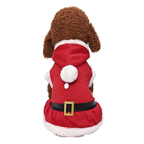 100 Pfund Kostüm Hunde - Weihnachten Hundebekleidung mit Ball Kapuzen,Tonsee Herbst Winter Hunde Super Weich T-Shirt Schnee Drucken Kostüm Niedlich Kleidung Hunde Patchwork Kleine Pullover (S)
