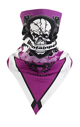 Écharpe d'équitation Écharpe triangulaire magique Out Accessoires de vélo Masque de crâne Violet