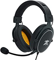 Fnatic REACT Gaming Headset for PS4/PC with 53mm Drivers, Stereo Sound & In-Line Control, Over-Ear Soft Memory Earpads, Comp
