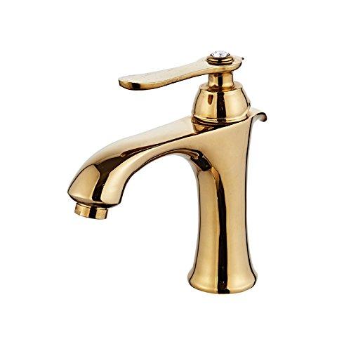 Preisvergleich Produktbild Maifeini Antike Vergoldete Wasserhähne_Golden Kupfer Einloch Europäischen Heißen Und Kalten Wasserhahn Wasserhahn Im Antiken Stil, Gold