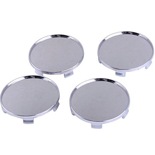 CITALL 4 pcs 68mm Chrome Plated ABS En Plastique Auto Roue Centre Hub Caps Couvertures Set (pas de logo)