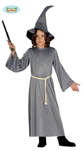 Zauberer Kostüm für Kinder Mittelalter Magier Halloween Kinderkostüm Gr. M/L, (Kostüm Kind Magier)
