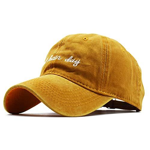 WBSNA Sommer Kappe Für Männer Frauen Baseballmützen Streetwear Casquette Outdoor Slipknot Korean Hut Frau Hüte,Yellow (Korean Mode Für Männer Bekleidung)