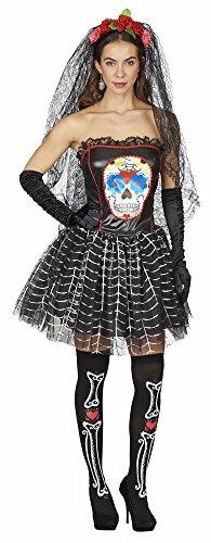 Make Kostüm Senorita Up (Day of the Dead Kostüm für Damen Schwarz Gr. 44)