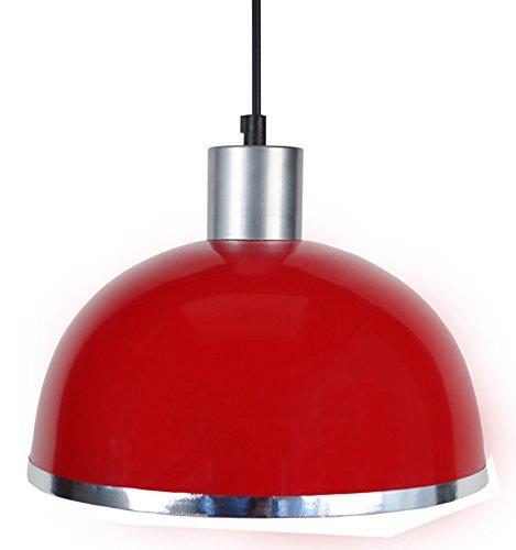 tosel-15563-demi-boule-c-suspension-tole-acier-repousse-peinture-epoxy-pvc-chrome-rouge-245-x-900-mm