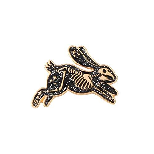 Fliyeong Premium Skeleton Kaninchen Emaille Pin Abzeichen Broschen für Männer Frauen Rucksack Geldbörse Hut Zubehör -