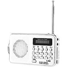 iMinker Mini Digital Portatile Music Player Radio FM dell'altoparlante di mezzi MP3 Port TF / SD USB Disk per PC iPod Phone con display a LED e batteria ricaricabile