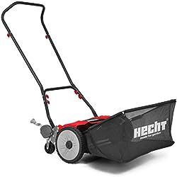 Hecht - H514 Tondeuse hélicoïdale sans électricité essence fil Largeur du coupe 46 cm Hauteur coupe 9 positions Bac 50 L, pelouse anglaise