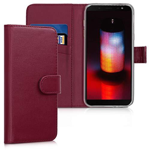 kwmobile Samsung Galaxy J6 Hülle - Kunstleder Wallet Case für Samsung Galaxy J6 mit Kartenfächern und Stand