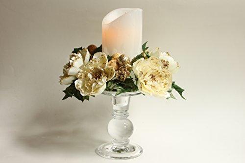 Conjunto de velas pilar de no?L? LED (3?Pi?Ces), peonía, orange br?l?, 6 Stand