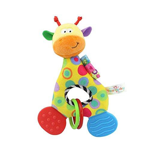 1 Stücke Neugeborenen Baby Weichem Plüsch Spielzeug Schöne Beißring Rassel Kinderkrankheiten Spielzeug Halloween Weihnacht Geschenk(Giraffe)