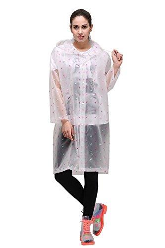 Upgrow Regenmantel Damen Regenjacken Herren Regenponcho EVA Regen Kleidung mit Tasche für Radfahren, Wanderer, Camping, Reise, Reiter (Flamingo, L)