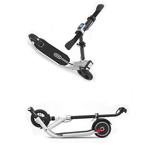 ZWQ Pieghevole Mini motorino Elettrico, Giovani Adulti Universale a Due Ruote Pieghevole Scooter, Portatile a Due Ruote Scoot