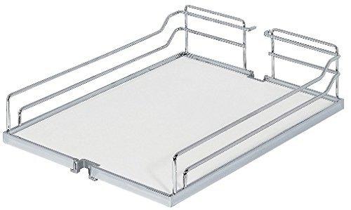 GedoTec® Einhängeboden Einhängekorb für Kesseböhmer Hoch-Schrank Dispensa | für 30er Apothekerschrank breite | 250 x 467 x 110 mm | Stahl silberfarbig | Markenqualität für Ihren Wohnbereich