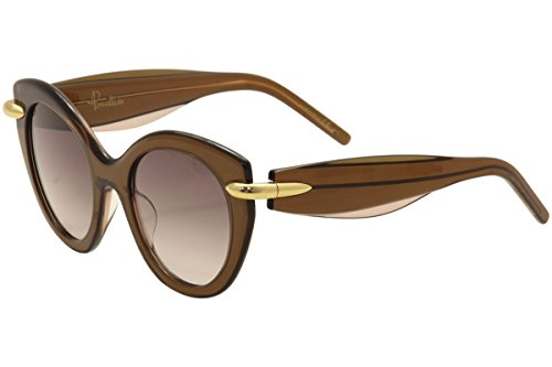 Pomellato pm0004s 004, occhiali da sole donna, marrone (004-brown/brown), 50
