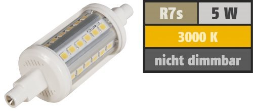 Preisvergleich Produktbild LED-Strahler McShine ''LS-736'', R7s, 5W, 410 lm, 78mm, 360°, warmweiß