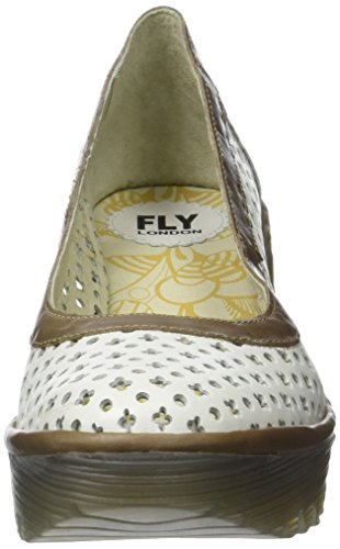 Fly London Yika733fly, Sandali con Zeppa Donna Avorio (Offwhite/Grey 006)