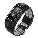 BLOIBFS Smartarmband, GPS, Pulsuhr Sport Armbanduhren, Zeiterinnerung, Kompatibel Mit Android- Und Apple-Systemen,Grey