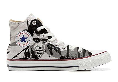 Converse All Star Personnalisé et Imprimés Hi chaussures coutume, Sneaker Unisex (produit Italien artisanal) Al Pacino