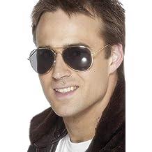 Smiffys Gafas de aviador, doradas