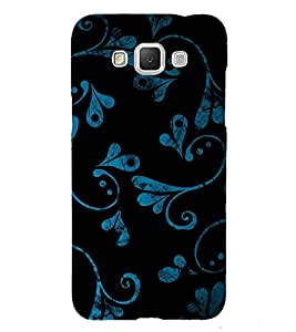 Beautiful Blue Black Pattern 3D Hard Polycarbonate Designer Back Case Cover for Samsung Galaxy Grand Max G720