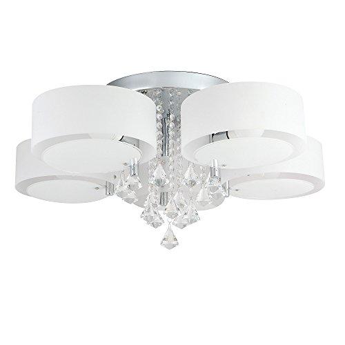 Blau-matt-wandleuchte (SAILUN® 35W LED Warmweiß und 14W RGB Deckenleuchte 5-flammig Acryl Kristall Deckenlampe Flur Wohnzimmer Lampe Schlafzimmer Küche Energie Sparen Licht Wandleuchte (5-flammig))