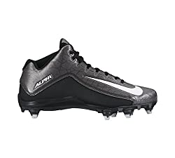 NIke Alpha Strike 2 3/4 D Football Cleats (13, Charcoal/Black)