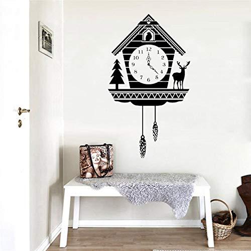 jiuyaomai Kreative Rustikale KuckucksuhrWandaufkleberTier Uhr Kinderzimmer DekorationVinylkunst RemovablePoster42X73 cm