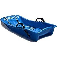 JFJL 80 Niños Adultos Deportes al Aire Libre Plástico Tobogán Invierno Nieve Deslizador Trineo de Juguete para Uso General con Cuerda de tracción, 2 Asas - Cuesta Abajo Trineo de Nieve Trineo,Blue