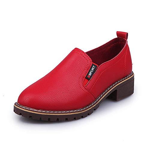 Sonnena Damen Elegant Oxford Lederschuhe Flach Boden Martin Schuhe Casual Knöchel Shoes Booties Outdoor Niedrige Schlauchstiefel Stiefeletten 35-40