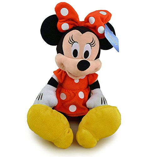 Disney Mickey Mouse Clubhouse Minnie Mouse Plush - Red Polka Dot (Red Minnie Dress Mouse)