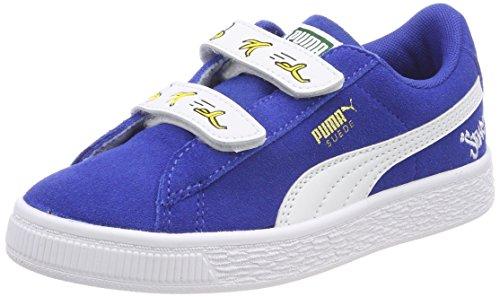 Puma Unisex-Kinder Minions Suede V PS Sneaker, Blau (Olympian Blue White), 33 EU (Kinder-blue Suede Shoes)