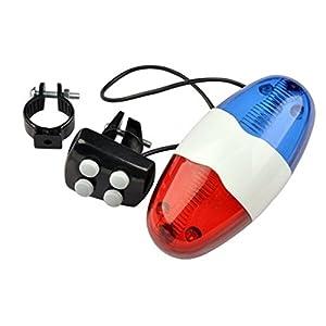 41YRfuOm2EL. SS300 Foxnovo XC-325B bici bicicletta ciclismo 4 suoni 6 LED LED elettronico avvertimento luci sirena Beeper corno Bell