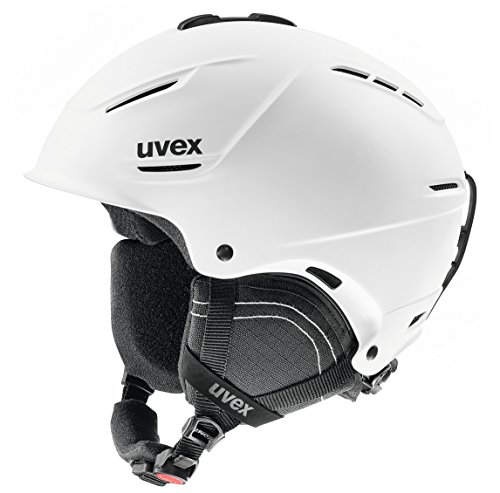 Uvex p1us 2.0 Esquiar, Snowboard Negro, Blanco - Cascos de protección para Deportes (IAS fit System, Mate, Negro, Blanco)