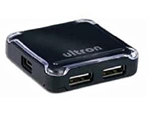 USB-HUB 2.0 4-PORT UH-440S ultron UH-440s 4 Port USB Hub schwarz ohne Netzteil/ 4 x Downstream Port/ inklusive Kabel/ Plug und Play/