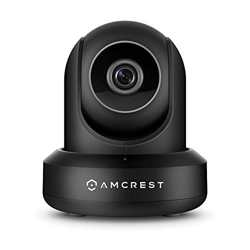 Amcrest IP2M-841B, Cámara IP de Seguridad WiFi Inalámbrica marca de 1080p con Paneo/Inclinación, Audio de dos vías, Fácil instalación, Grabación en la nube opcional, Full HD 1080p (1920 TVL), Ángulo de visión superamplio de 90° y Visión nocturna (Negra)
