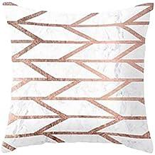 Funda de Almohada de Tiro, Textura Geométrica de MáRmol Cojín de la Cubierta de decoración del Hogar por Morwind (C)