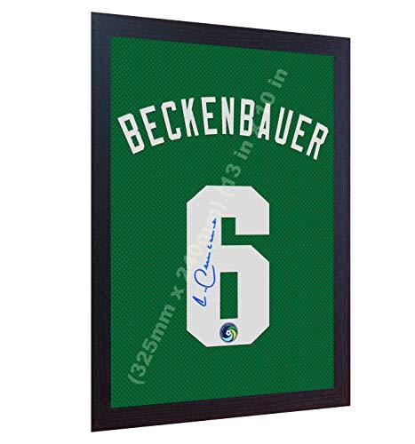 Cosmo Gerahmt (SGH SERVICES NEU! Franz Beckenbauer NY Cosmos Autogramm auf Leinwand, gerahmt, 100% Baumwolle)